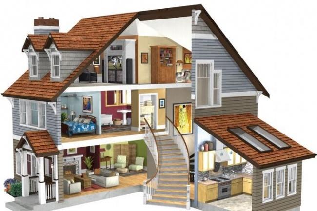 Разработка 3D модели дизайна интерьера квартиры, домаМебель и дизайн интерьера<br>Разработаю 3D модель квартиры, дома. На выбор работаю в Sweet Home или Sims. В Sims смогу добавить мельчайшие детали. Визуализация со 4 сторон, сверху, так же различных мелких деталей вблизи. Первые 3 приложенных скриншота, пример одной из работ на заказ, следующие 3 - визуализация из программы Sweet Home (взято с интернета).<br>