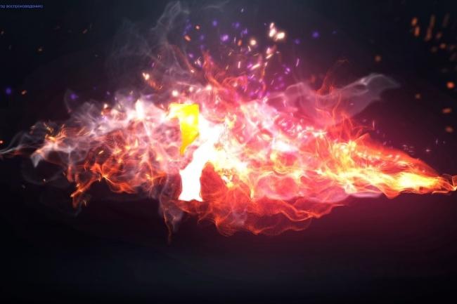 Создам огненное интро со взрывом 1 - kwork.ru