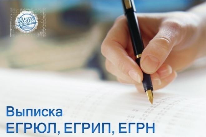 Выписка егрюл, егрип, ЕГРН 1 - kwork.ru