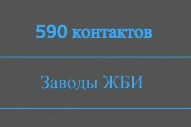 Контакты заводов ЖБИ 1 - kwork.ru