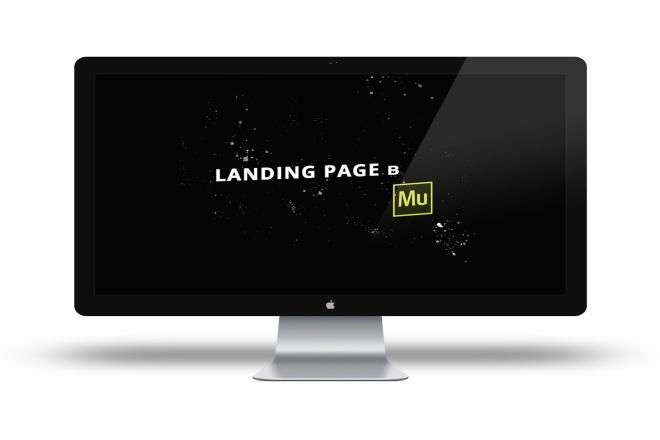Landing page в Adobe Muse 1 - kwork.ru