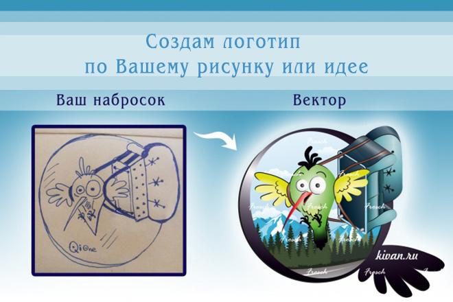 Создам логотип по вашему рисунку или идее 1 - kwork.ru