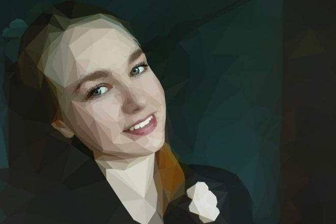 Портрет в стиле  LowPoly 1 - kwork.ru