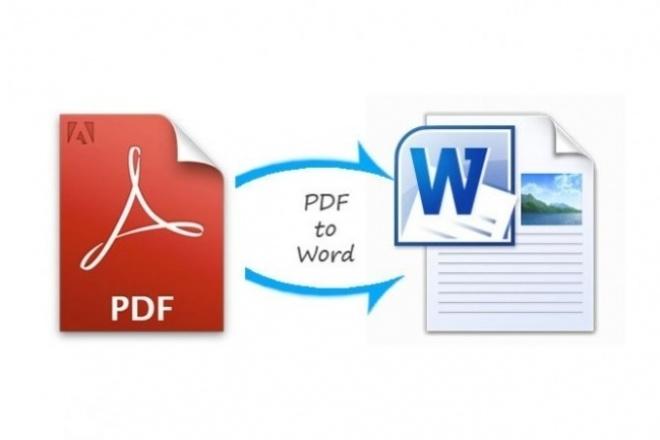 Переведу ваш pdf-документ в word. Быстро и качественно 16 - kwork.ru