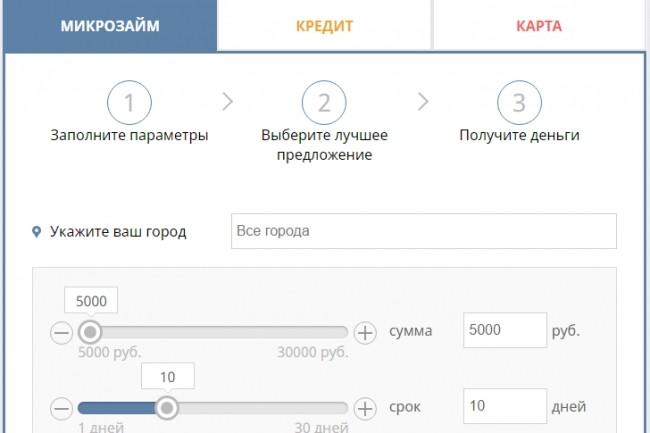 Адаптивная витрина кредитных офферов подключенная к СРА 15 - kwork.ru