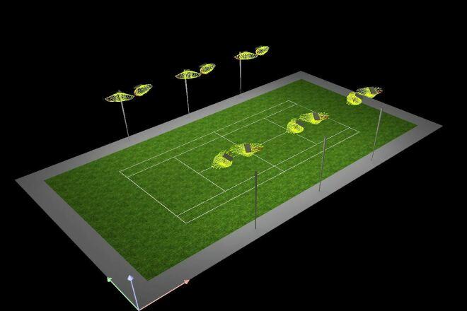Сделаю светотехнический расчет спортивной площадки в Dialux 1 - kwork.ru