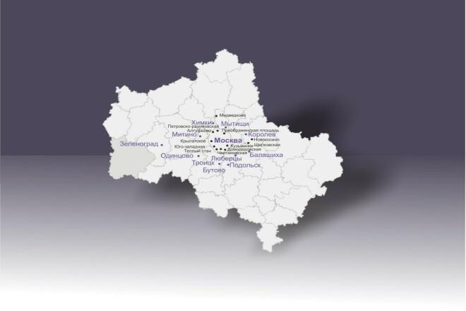 Карта в векторе 1 - kwork.ru