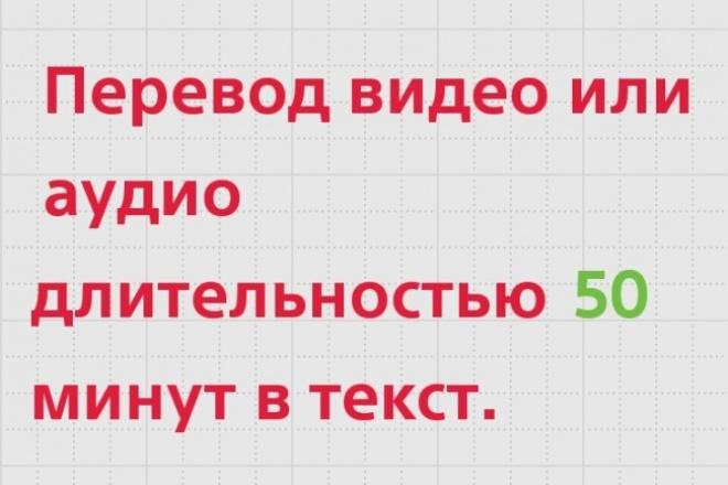 Перевод аудио или видео в текст 1 - kwork.ru