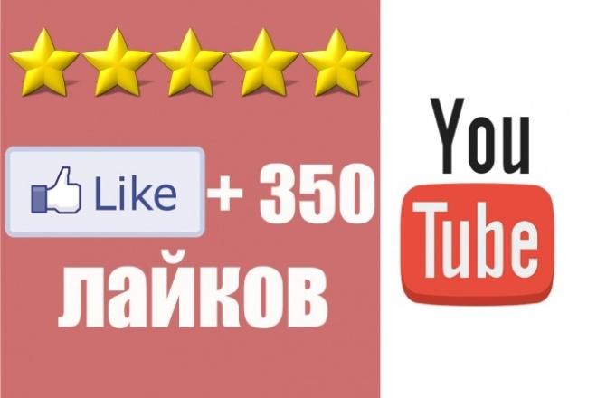 Поставлю 350 лайков на ваше видео YouTubeПродвижение в социальных сетях<br>Вы хотите получить больше лайков на вашем видео, занимать высшие рейтинги? Но вас мало кто замечает? Выход есть: -  Вы начнете набирать популярность после приобритения этого кворка!  А также когда вы начнете набирать популярность , вы начнете укреплять свой авторитет перед аудиторией которая смотрит ваше видео! Разве не этого вы хотите? А также если вы хотите сбить рейтинг вашим конкурентам, мы подготовили для вас дополнительный кворк- 300 дизлайков!<br>