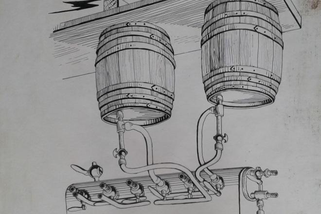 Рисунок от руки, набросок, визуализация 1 - kwork.ru
