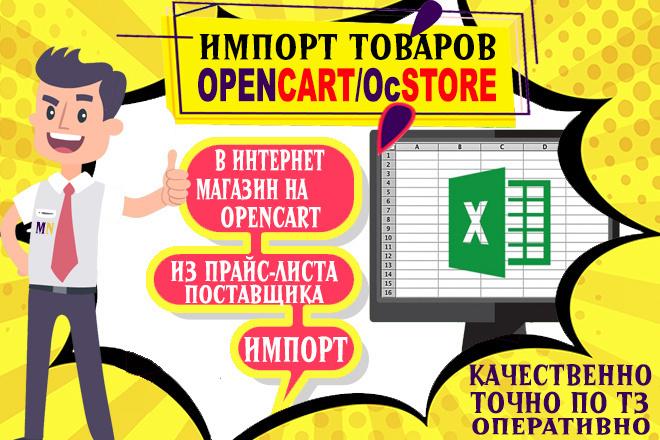 Импорт товаров в OpenCart из прайс листа поставщика 1 - kwork.ru