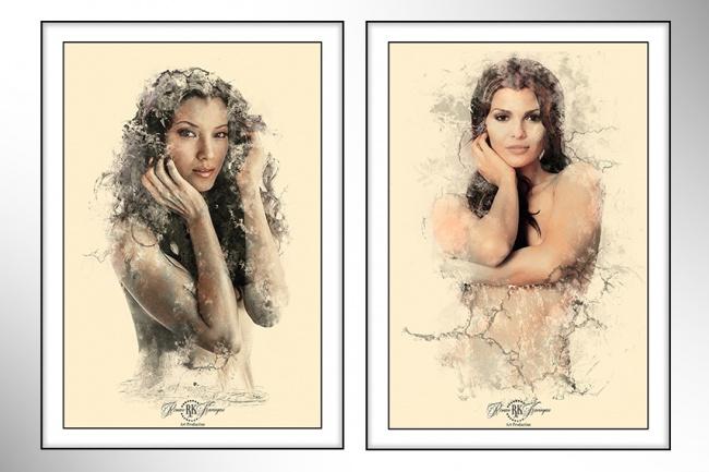 Стильные портретыОбработка изображений<br>Предлагаю различные варианты обработки ваших фото и преобразование их в стильные портреты Ниже в кворке расположен файл для примера<br>
