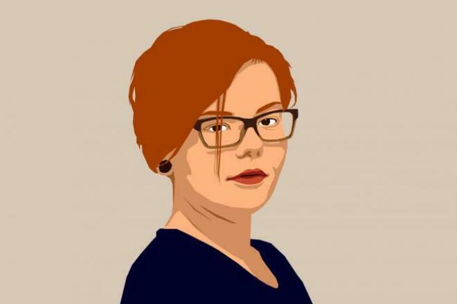 Нарисую векторный портретОтрисовка в векторе<br>Нарисую (вернее, неплохо так обведу) портрет по фотографии в векторном редакторе и скину вам в любом стандартном формате. Не-портреты тоже можно попробовать)<br>