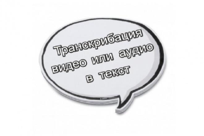Транскрибация видео или аудио в текст 1 - kwork.ru