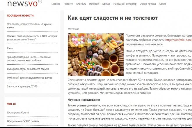 Напишу и размещу на своих площадках статью 1 - kwork.ru