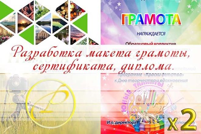 Создам макет грамоты, диплома, сертификата 1 - kwork.ru