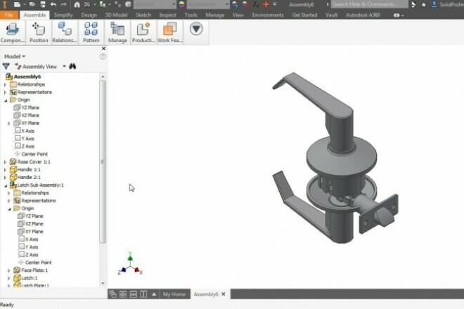 Создам 3D модель в программе Inventor 2016 1 - kwork.ru