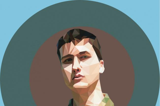 Полигональные портреты 1 - kwork.ru