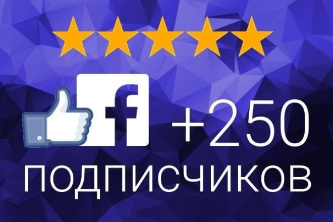 Продвижение Facebook 250 подписчиков на паблик FanPageПродвижение в социальных сетях<br>Заказав этот кворк вы получите 250 гарантированных подписчиков на паблик в Фейсбуке. (FanPage) Нужно больше подписчиков? Заказывайте сразу несколько кворков! ? Хорошо для новых пабликов Фейсбук ? Никаких рисков. ? Гарантия качества работы Обращаю Ваше внимание, что со временем часть подписчиков может отписаться, но не более 5%. От вас потребуется только ссылка на ваш паблик Фейсбук!<br>