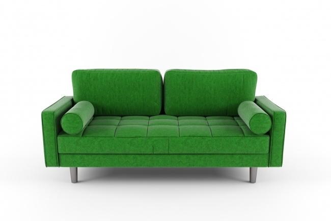 Модель мягкой мебели и ее визуализация в интерьере 1 - kwork.ru