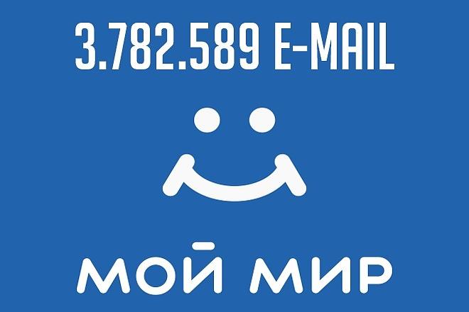 База e-mail адресов -Мой Мир- 1 - kwork.ru
