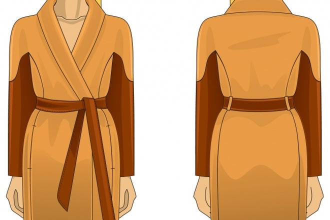 Технический рисунок одеждыИллюстрации и рисунки<br>Нарисую в CorelDRAW технический рисунок одежды (придумаю или нарисую по фото.) Разработаю спортивную форму или костюм.<br>