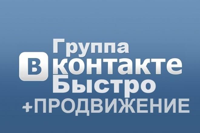 Создам группу, оформлю VK 1 - kwork.ru