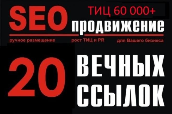 20 ссылок ТИЦ 60000+ 1 - kwork.ru
