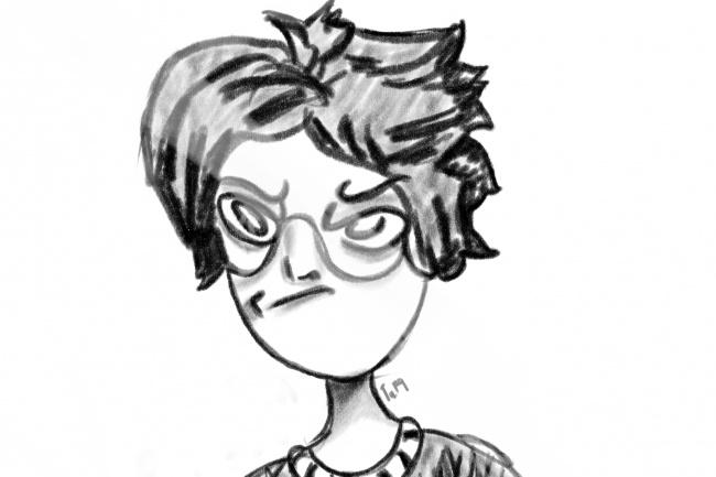 Сделаю портрет в необычной рисовке 1 - kwork.ru