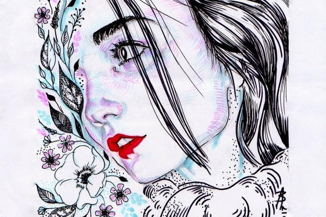 Нарисую портрет акварелью, тушью или карандашом 1 - kwork.ru