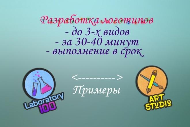 Сделаю 3 логотипа на выбор 1 - kwork.ru