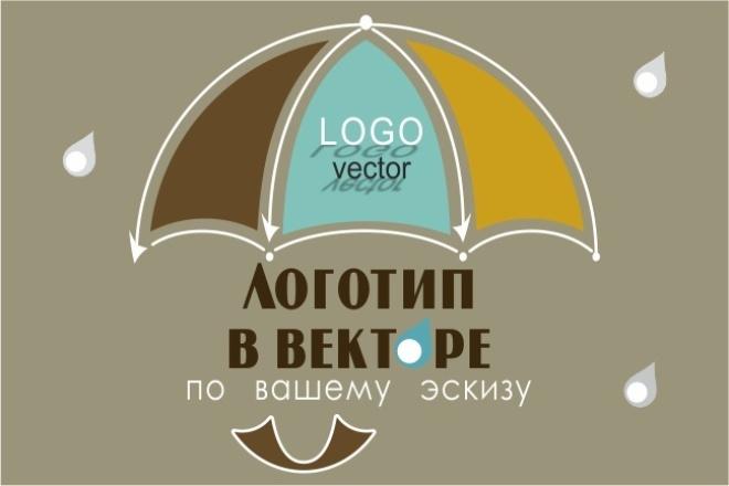 Отрисую ваш логотип в вектореОтрисовка в векторе<br>Доброго времени суток! Переведу ваши эскизы, картинки логотипа в векторный вид. Работу выполню любой сложности. В 500 руб. входит: 1. Отрисовка простого логотипа по вашему эскизу, картинке. 2. Файл-исходник в формате cdr (CorelDraw), в png (Photoshop) на прозрачном фоне. Другие форматы по вашему желанию. Каждый заказ оценивается индивидуально. Более сложные логотипы с большим количеством элементов, прорисовок мелких деталей, дополнительный дизайн и прочее оформляются по дополнительным опциям. Полученные исходники (входят в стоимость кворка) вы можете использовать в полиграфии, при создании веб-сайтов, всех видов рекламы и т. д.<br>