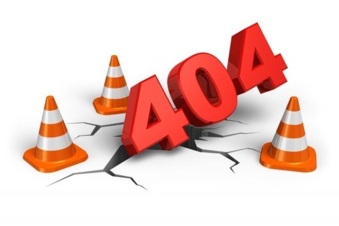 Поиск и удаление битых ссылок -  страниц с 404 кодом ответа сервера 1 - kwork.ru