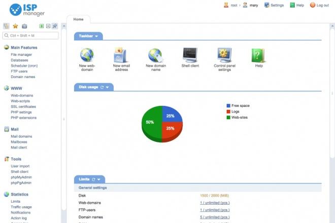 Установлю ISP manager на VDS, VPS Debian, UbuntuАдминистрирование и настройка<br>Установлю и настрою панель управления хостингом ISP manager на вашем VDS, VPS или Dedicated server c установленой ОС Ubuntu или Debian.<br>