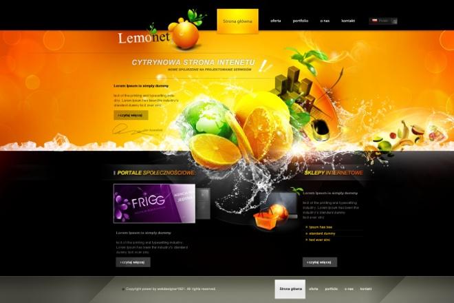 Создам уникальный дизайн для вашего сайта 1 - kwork.ru