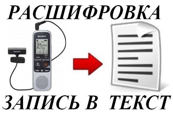Расшифровка аудиозаписей и видеозаписей в текстНабор текста<br>Об этом кворке Качественно расшифрую и наберу в текст содержание аудио или видеоматериалов. При расшифровке убираются слова-паразиты, тавтология, повторы. Следует учесть, что на скорость расшифровки влияет: - качество записи; - диалог или монолог; - скорость речи говорящего; - четкость выговаривания слов диктором; - обработка текста после транскрибации также занимает продолжительное время (до нескольких часов). Поэтому, кому нужно вчера и бесплатно, проходят мимо и выбирают соответствующих исполнителей. Сроки выполнения услуги: -от 1 до 40 минут аудио или видео - выполнение в течение одного рабочего дня (10-14 часов в ночное время) с момента получения готового материала.<br>