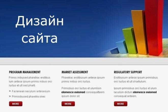 Создам дизайн-макет вашего сайта, магазина, лендинга 1 - kwork.ru