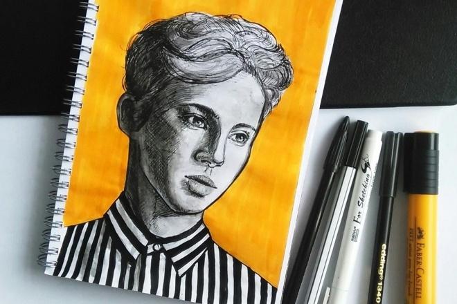 Напишу или нарисую портрет 1 - kwork.ru