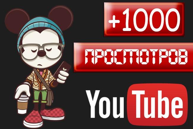1000 просмотров на видео 1 - kwork.ru