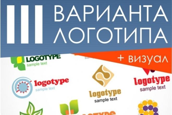 Дизайн 3х вариантов логотипа 1 - kwork.ru