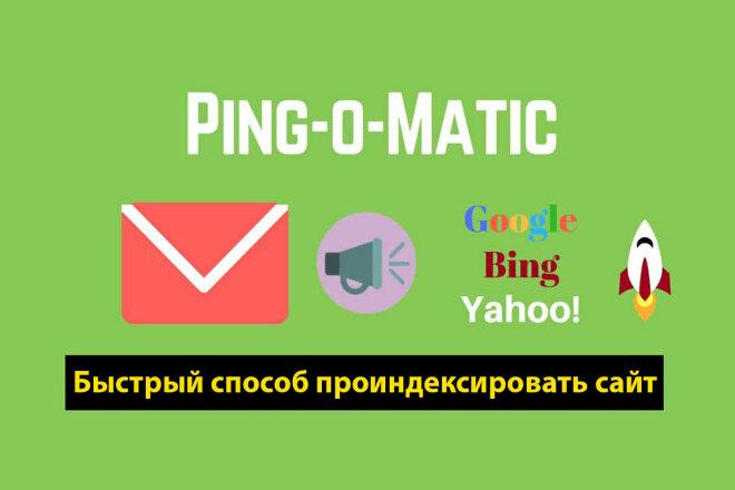 Пинг 100 страниц для ускорения индексации вашего сайта 1 - kwork.ru