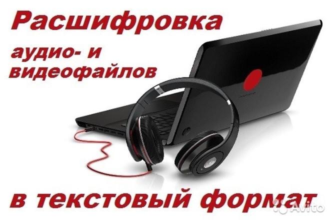 Затранскрибирую текст, переведу из аудио и видео форматов в печатный 1 - kwork.ru