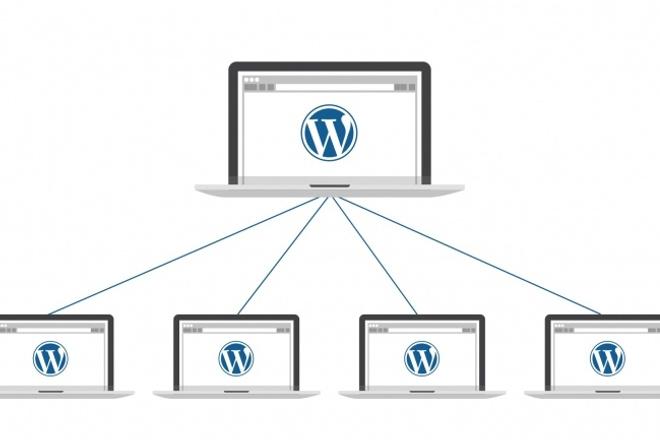 Мультисайт на wordpress. Установка и настройкаАдминистрирование и настройка<br>Multisite (мультисайт) — это режим работы WordPress, который позволяет создать сеть из сайтов WordPress. При этом каждый сайт в сети имеет свои собственные настройки, а плагины, темы и пользователи становятся общими, что дает ряд преимуществ: Пользователям не нужно заводить более одной учетной записи, вы можете легко добавить существующего пользователя к новому сайту в сети Вы устанавливаете плагин лишь один раз, и активируете его на каждом сайте по мере необходимости При желании плагины можно принудительно активировать для всех сайтов в сети Обновлять темы и плагины нужно лишь один раз, а не для каждого сайта отдельно Вы можете использовать общую тему для каждого сайта, или создать дочерние темы для отдельных сайтов в сети Режим Мультисайт (Multisite) стоит использовать: Если в вашей компании несколько отделов и у каждого отдела есть свой сайт Когда необходимо иметь одну учетную запись для входа на два и более сайтов Когда есть необходимость обмениваться данными между двумя сайтами Если вы разрабатываете мультиязычный сайт на WordPress Если вам требуется дополнительная среда для разработки и тестирования По окончанию работы вы получить полностью готовый к работе мультисайт.<br>