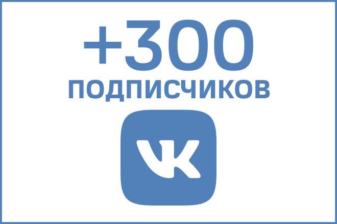 +300 Живых Подписчиков Вконтакте 1 - kwork.ru
