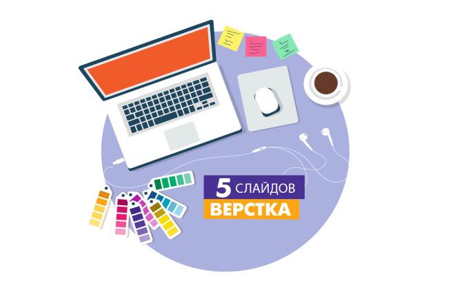 Верстка небольшой презентации 1 - kwork.ru