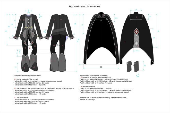 Сделаю технический рисунок одежды 1 - kwork.ru