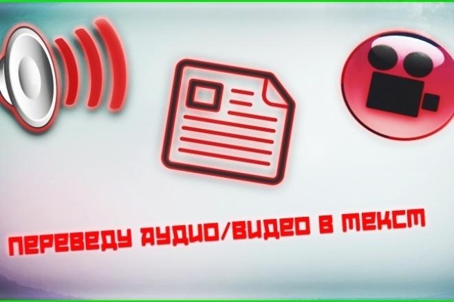 Переведу аудио/видеозапись в текст 1 - kwork.ru