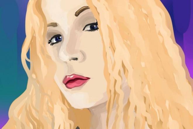 Нарисую милый портрет в современном стиле 1 - kwork.ru