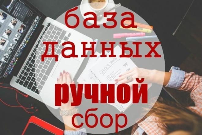 ручной сбор базы данных 1 - kwork.ru