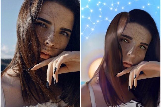 Нарисую цифровой портрет по фото 1 - kwork.ru